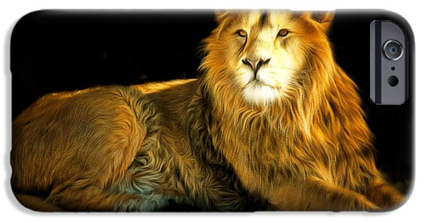 Eye Of The Tiger iPhone Cases - The Lion 201502113-2brun iPhone Case by Wingsdomain Art and Photography