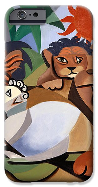 The Lion And The Lamb iPhone Case by Anthony Falbo