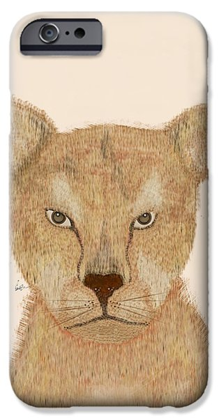 Lion Digital Art iPhone Cases - The Lion iPhone Case by Bri Buckley