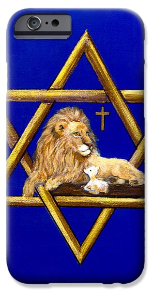 David iPhone Cases - The Lion of Judah #7 iPhone Case by  Bob and Nadine Johnston