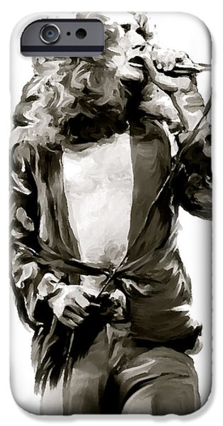 The Lion  Robert Plant iPhone Case by Iconic Images Art Gallery David Pucciarelli