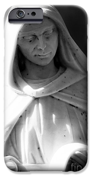 Headstones iPhone Cases - The List iPhone Case by John Rizzuto