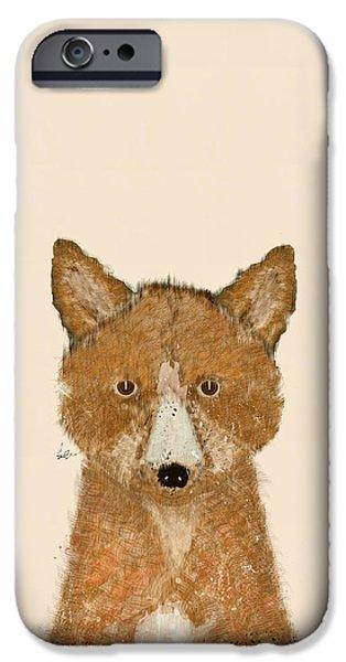 Fox Digital iPhone Cases - The Little Fox iPhone Case by Bri Buckley