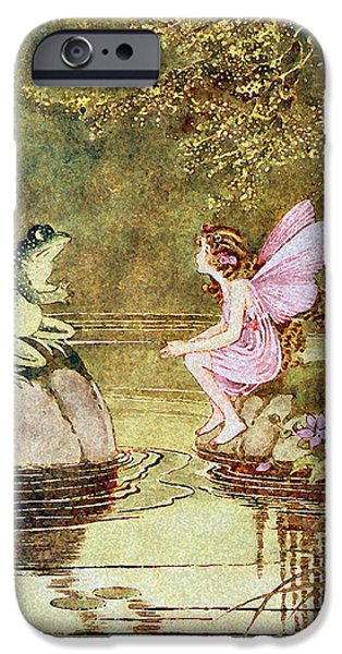 Fay iPhone Cases - The Little Green Road to Fairyland  iPhone Case by Ida Rentoul Outhwaite