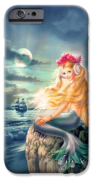 Little iPhone Cases - The little Mermaid iPhone Case by Zorina Baldescu