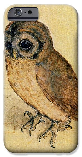 Recently Sold -  - Nature Study iPhone Cases - The Little Owl iPhone Case by Albrecht Durer