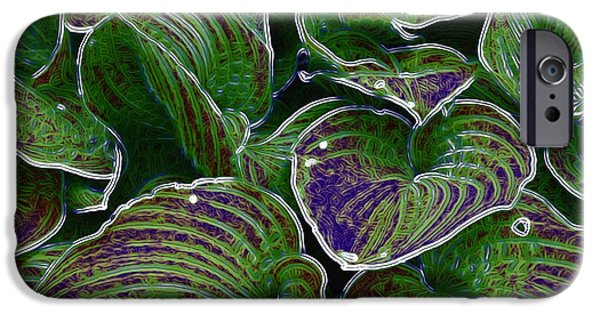 Creek Mixed Media iPhone Cases - The Little Pond iPhone Case by Pepita Selles