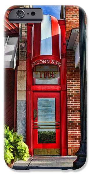 Shops iPhone Cases - The Little Popcorn Shop in Wheaton iPhone Case by Christopher Arndt
