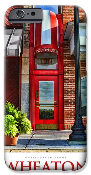 Little iPhone Cases - The Little Popcorn Shop in Wheaton Poster iPhone Case by Christopher Arndt