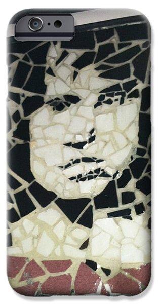 Celebrities Art Ceramics iPhone Cases - The Lizard King iPhone Case by Arabella Woods