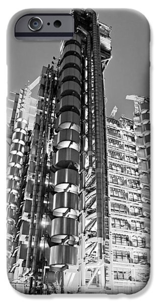 Financial Interest iPhone Cases - The Lloyds Building - London iPhone Case by Luciano Mortula