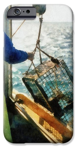 The Lobsterman iPhone Case by Michelle Calkins