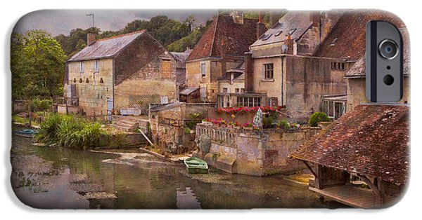Old Barns iPhone Cases - The Loir River iPhone Case by Debra and Dave Vanderlaan