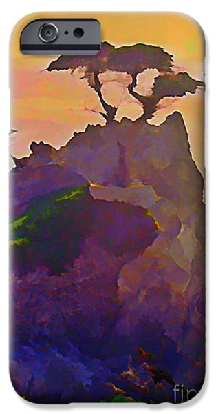 Halifax Art Work iPhone Cases - The Lone Cypress iPhone Case by John Malone