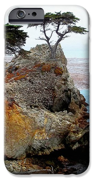 The Lone Cypress - Pebble Beach iPhone Case by Glenn McCarthy Art and Photography