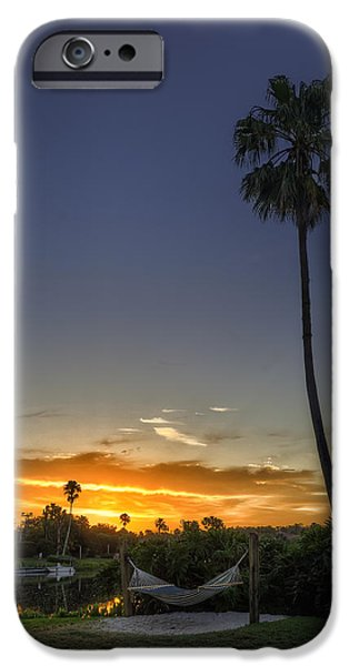 Florida iPhone Cases - The Lonely Hammock iPhone Case by Tim Stanley