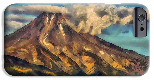 Painter Photo Photographs iPhone Cases - The Lonely Mountain iPhone Case by Mario Carini