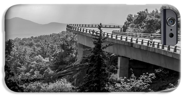 Smokey Mountain Drive iPhone Cases - The LONG and WINDING ROAD iPhone Case by Karen Wiles
