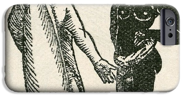 Strange iPhone Cases - The Long Eared Man Scolds His Servant.  Long Eared Men Were Said To Live In Africa. They Were Said iPhone Case by Bridgeman Images