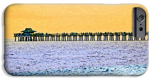 Fl iPhone Cases - The Long Pier - Art by Sharon Cummings iPhone Case by Sharon Cummings
