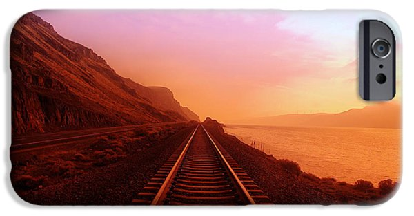 Nature iPhone Cases - The Long Walk To No Where  iPhone Case by Jeff  Swan