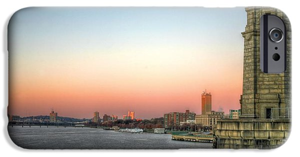 Charles River iPhone Cases - The Longfellow Bridge  iPhone Case by JC Findley