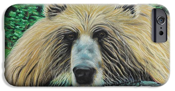 Wild Animals Pastels iPhone Cases - The Look iPhone Case by Jeanne Fischer