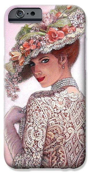 Hat iPhone Cases - The Look of Love iPhone Case by Sue Halstenberg