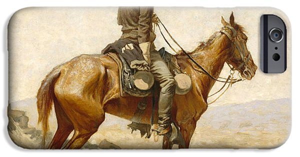 Frederic Remington iPhone Cases - The Lookout iPhone Case by Frederic Remington