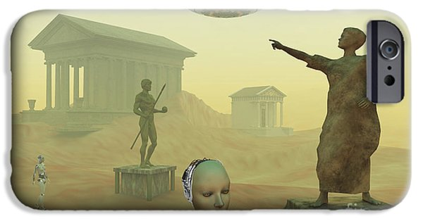 Built Structure Digital Art iPhone Cases - The Lost City Of Atlantis iPhone Case by Mark Stevenson