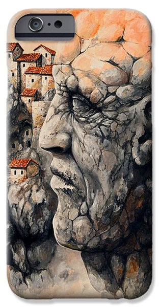 Fable iPhone Cases - The lost city - The sentinel iPhone Case by Emerico Imre Toth