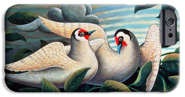 Court iPhone Cases - The Love Birds iPhone Case by Jerzy Marek