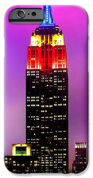 Empire State iPhone Cases - The Love Empire iPhone Case by Az Jackson