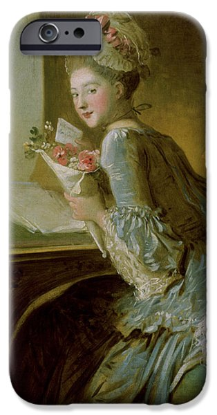 Love The Animal iPhone Cases - The Love Letter iPhone Case by Jean Honore Fragonard