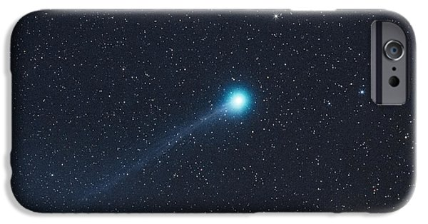 Space Tapestries - Textiles iPhone Cases - The Lovejoy Comet 2015 iPhone Case by Dennis Bucklin