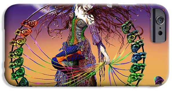 Recently Sold -  - Hindu Goddess iPhone Cases - The Lover iPhone Case by Kd Neeley