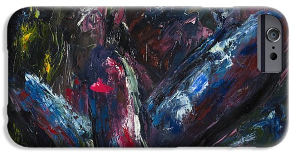 Abstract Expressionism iPhone Cases - The Lovers iPhone Case by Mark Courage