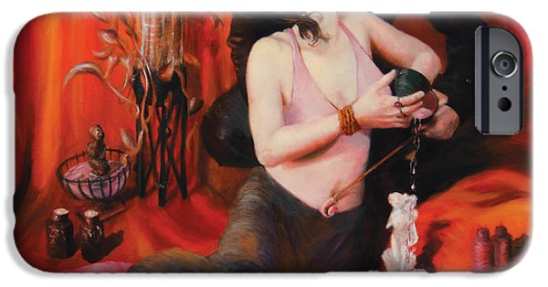 Archetype Paintings iPhone Cases - The Lovers iPhone Case by Shelley  Irish