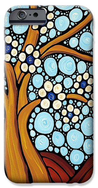 Floral Art iPhone Cases - The Loving Tree iPhone Case by Sharon Cummings