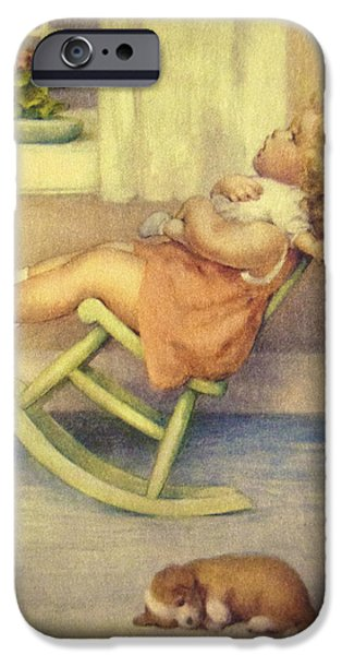 Puppy Digital iPhone Cases - The Lullaby iPhone Case by Bessie Pease Gutmann
