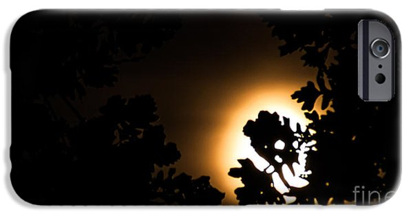 Moonscape Mixed Media iPhone Cases - The lunar glow iPhone Case by Optical Playground By MP Ray
