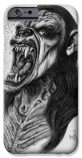 Wave Art iPhone Cases - The Lycanthrope iPhone Case by Wave