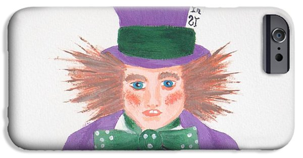 Best Sellers -  - Mad Hatter iPhone Cases - The Mad Hater Of Modern Day  iPhone Case by J D  Fields
