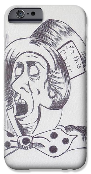 The Mad Hatter 1865 of Alice in Wonderland  iPhone Case by J D  Fields
