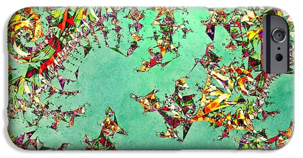 Mad Hatter iPhone Cases - The Mad Hatters Fractal iPhone Case by Susan Maxwell Schmidt