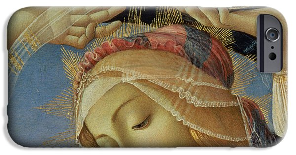 Close Paintings iPhone Cases - The Madonna of the Magnificat iPhone Case by Sandro Botticelli