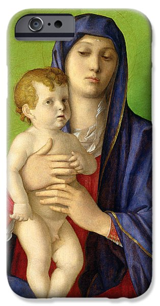 Renaissance iPhone Cases - The Madonna of the Trees iPhone Case by Giovanni Bellini