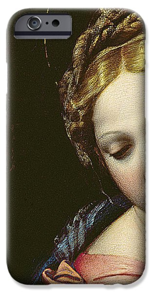 Madonna iPhone Cases - The Madonna iPhone Case by Raphael