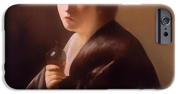 Prostitutes Paintings iPhone Cases - The Magdalen  iPhone Case by Paulus Bor