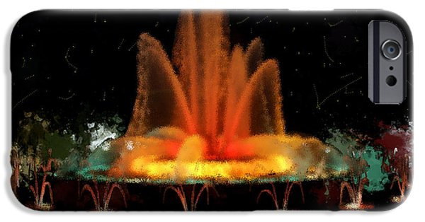 Jet Star iPhone Cases - The Magic Fountain iPhone Case by Bruce Nutting